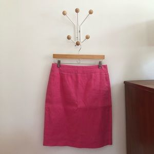 J. Crew Summer Linen Pencil Skirt